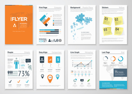 Infographic corporate elements and vector design illustrations Ilustração