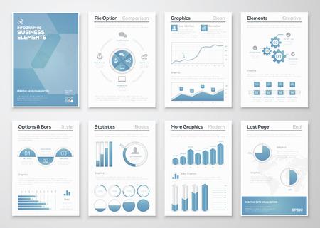 企業パンフレットのインフォ グラフィック事業ベクトル要素