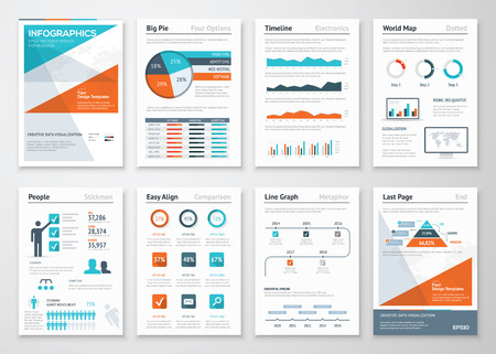 Business infographics vector elements for corporate brochures