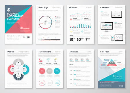 visual presentations: Infographics elements for business brochures and presentations