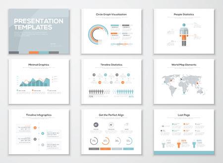 Infographics presentatiesjablonen en zakelijke brochures