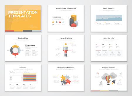 Creative infographics presentation templates and brochures Illustration