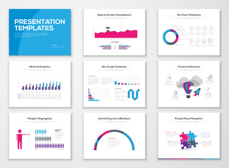 sjabloon: Infographic presentatie templates en zakelijke vector brochures