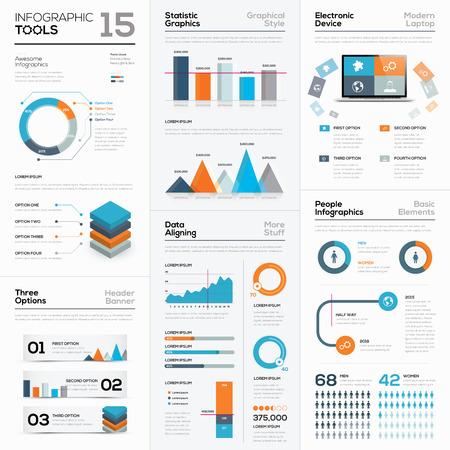 Léments d'affaires infographiques et outils vectoriels moderne Banque d'images - 36883080
