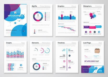 business presentation: Fresh vector elements for infographics and business brochures