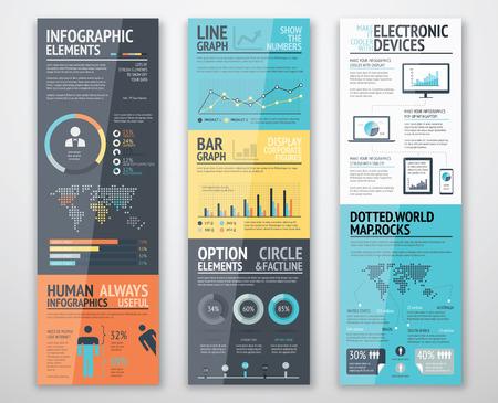 Modelli Infographic in ordine ben organizzato pronti per l'uso Archivio Fotografico - 37155318