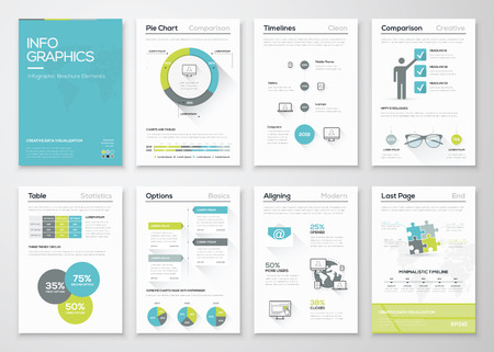 Fresh infographics vector concept. Business graphics brochures. Illusztráció