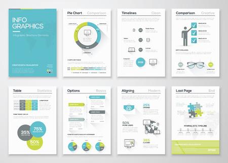 ESTADISTICAS: Infografía frescas concepto vectorial. Folletos gráficos de negocios.