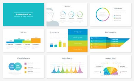 Infographic presentatie slide templates en vector brochures