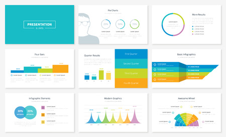 presentation people: Infographic presentation slide templates and vector brochures