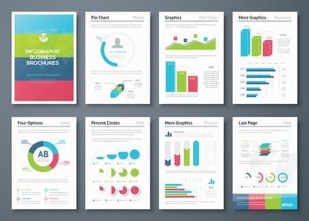 Presentatie infographics voor creatieve zakelijke ontwerp