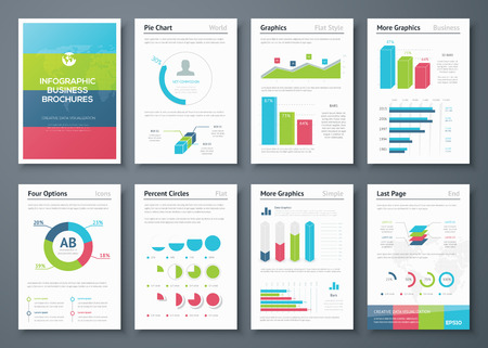 sales graph: Presentation infographics for creative business design