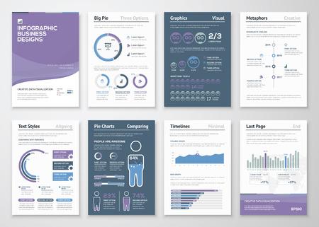 ビジネス パンフレットやチラシのインフォ グラフィック ベクトル要素  イラスト・ベクター素材