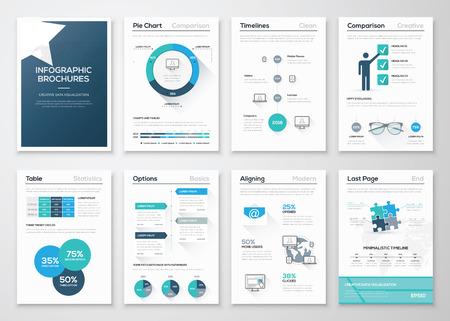 Creative concept de vecteur infographie. Brochures graphiques d'affaires Banque d'images - 39172347
