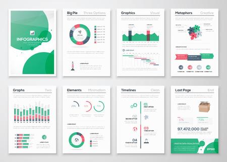 創造的なデータの可視化のためのインフォ グラフィック事業パンフレット