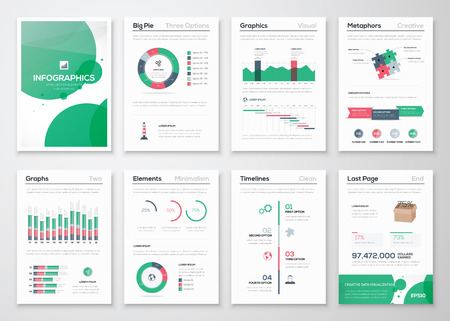 business presentation: Infographic business brochures for creative data visualization