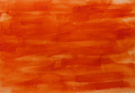 Echthandbemalt titian rot Aquarell Hintergrund Vektor-Textur Standard-Bild - 40924083