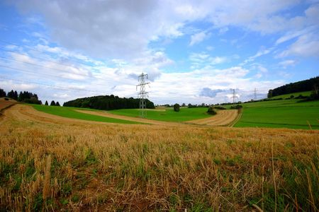 west of germany: A typical field landscape scene of south west Germany