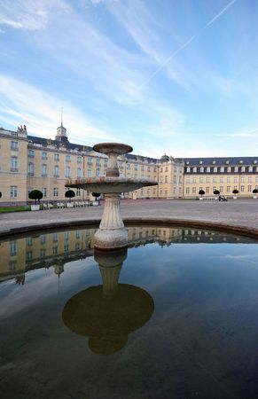 karlsruhe: Karlsruhe Palace, built 1715, in the middle of Baden County capital in Germany Stock Photo