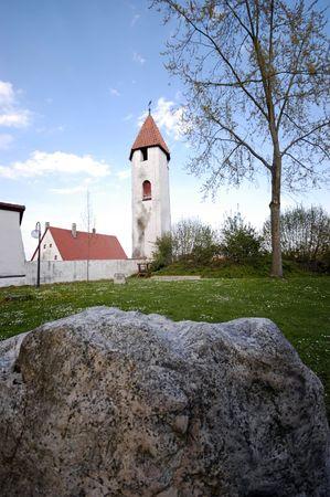 mediaval: A view of the mediaval city center of Riedlingen near Ulm, Danube Valley, Baden-Wuerttemberg, Germany