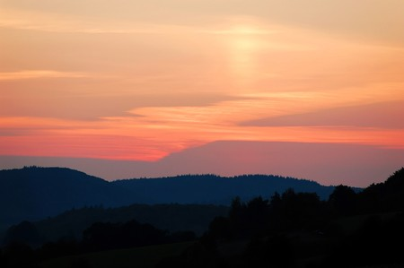 A landscape shot at late evening in south western Germany Stock Photo - 4353358