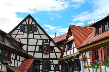 timbered: OId timbered house, south-west  Germany