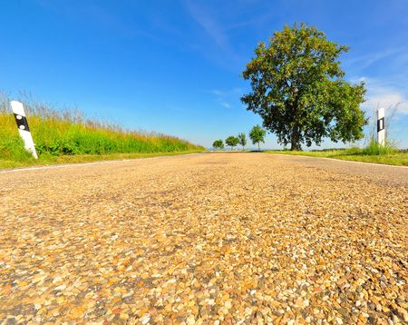 contryside: A of a rural road in south western Germany