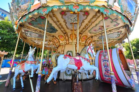 strikingly: Photo of a vintage carousel seen in France Stock Photo
