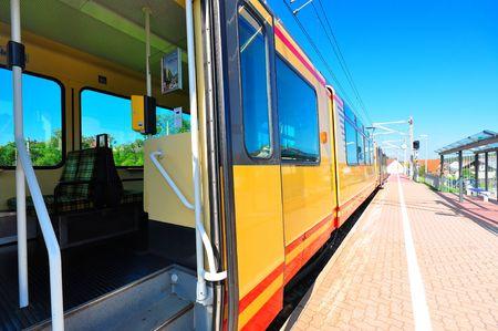 karlsruhe: A typical Karlsruhe commuter train (S-Bahn), Baden-Wuerttemberg, Germany