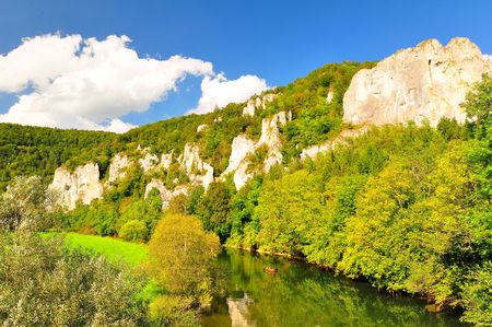 the danube: The Upper Danube Valley in Sigmaringen County, Baden-Wuerttemberg, Germany