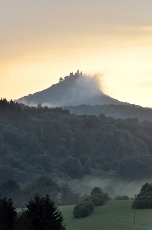 Hohenzollern castle near Hechingen, Baden-Wuerttemberg, Germany photo