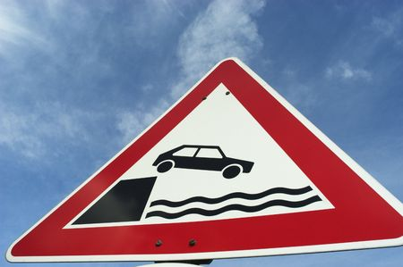Tarffic sign drowning photo