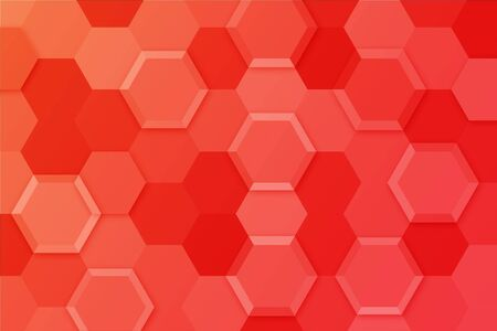 Abstract colorful background with red, orange and white hexa shape design