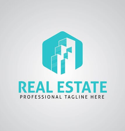 Real estate corporate logo. Real estate logo vector template. Corporate real estate logo Ilustração