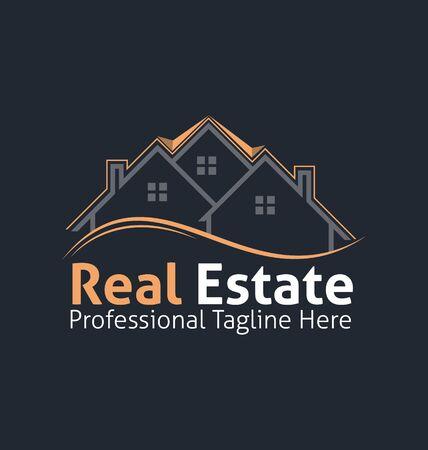 Real estate corporate logo. Real estate logo vector template. Corporate real estate logo