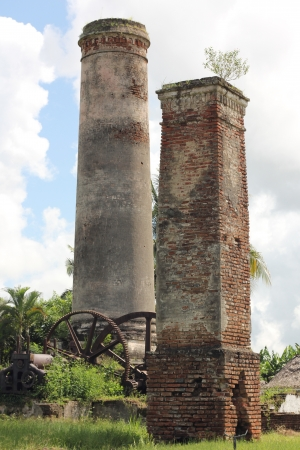 Ruins of an abandoned sugar mill in Cuba