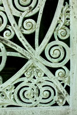 Close up de um painel em portas de metal envelhecido e resistiu a uma p