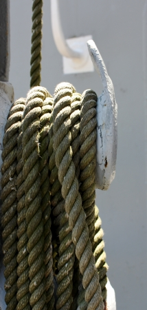 Loosely wrapped and hung rope