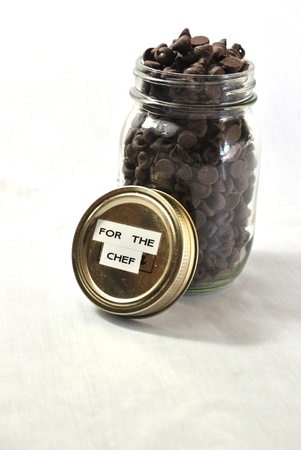 Chocolate Chips, for the Chef Stock Photo