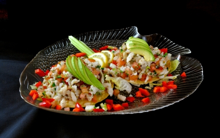 Mexican dish, Ceviche Stock Photo