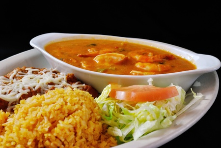Shrimp Ranchero Stock Photo