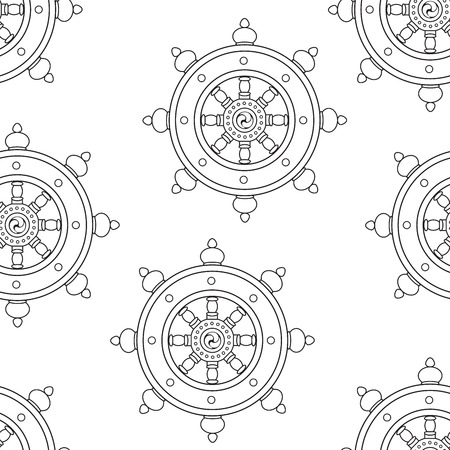 dharma: Wheel of Dharma Pattern Dharmachakra Pattern Buddhism. Illustration