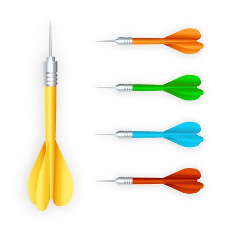 Set of darts. Vector illustration. Illustration