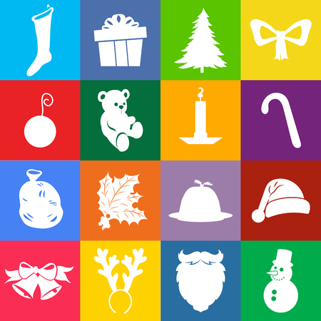 icons set: Christmas icons set for web and applications.