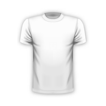 Realistic T-shirt template for your projects. Vector illustration. Vectores