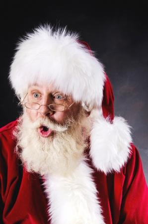 kringle: Authentic Santa Portrait Stock Photo