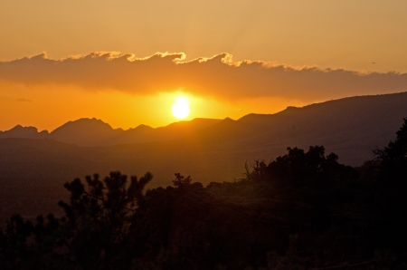 arizona sunset: Sunset Near Sedona, Arizona Stock Photo