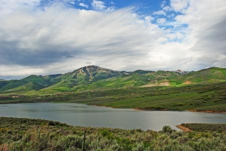 Jordanelle Reservoir in Mornng Light, Near Park City, Utah