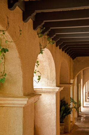 A row of arches displays the southwestern architecture of the famous and popular Village of Tlaquepaque, Sedoan, Arizona