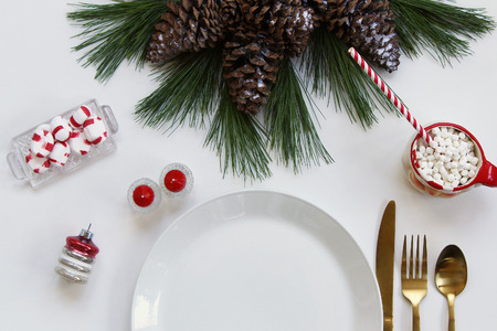 Festive styled Christmas table setting